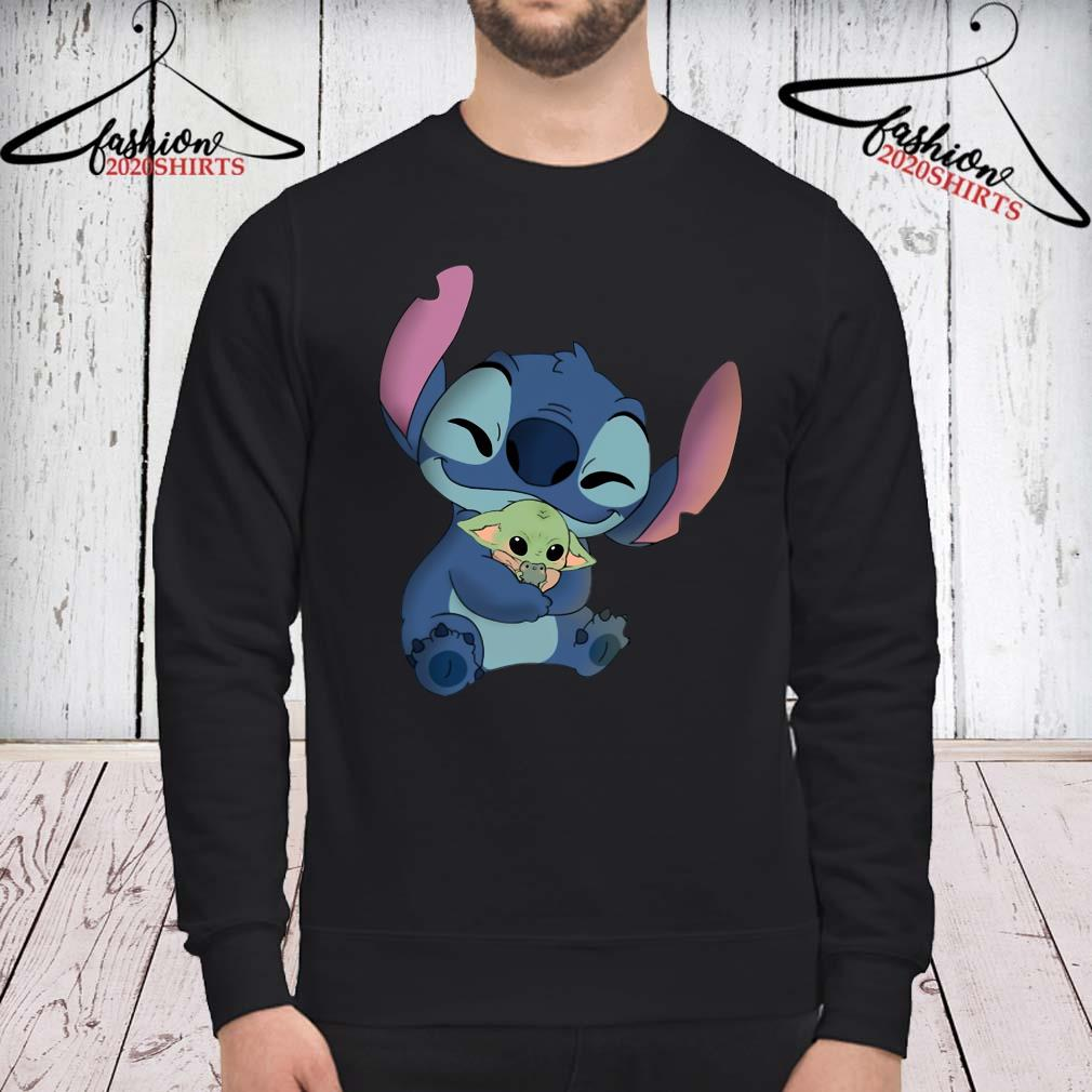 Baby Stitch Hug Baby Yoda Shirt sweatshirt