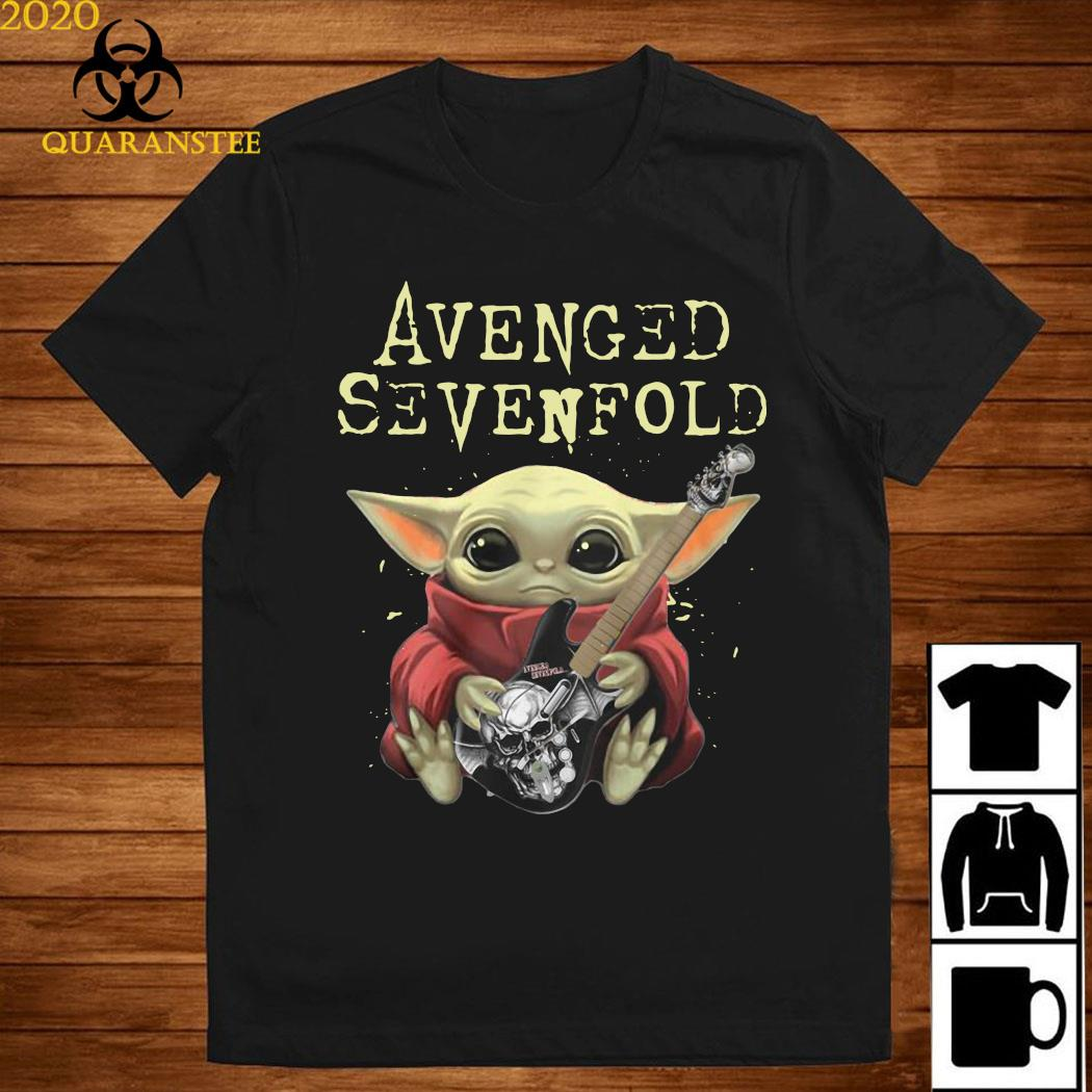 Baby Yoda Hug Guitar Avenged Sevenfold Shirt
