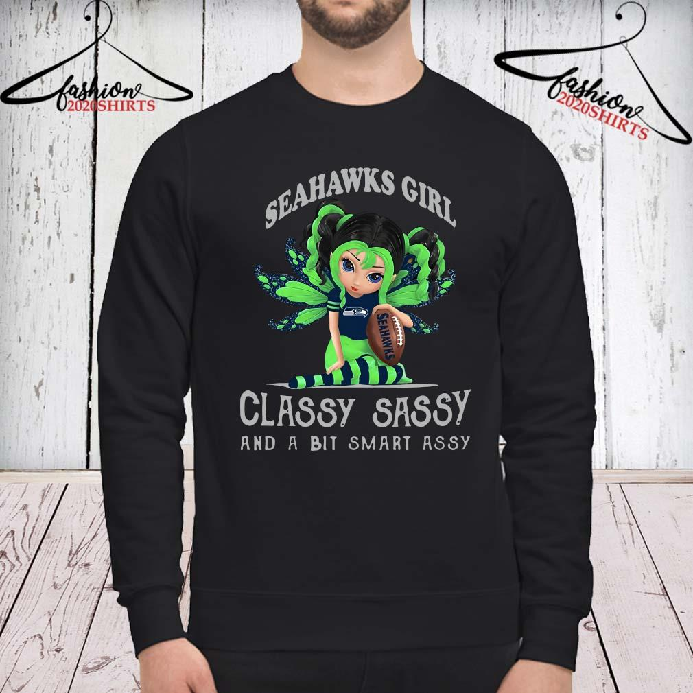 Butterfly Seahawks Girl Classy Sassy And A Bit Smart Assy Shirt sweatshirt