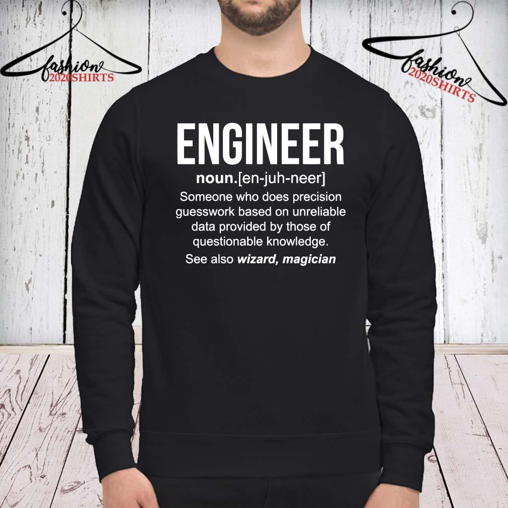 Engineer Someone Who Does Precision Guesswork Based On Unreliable Shirt sweatshirt