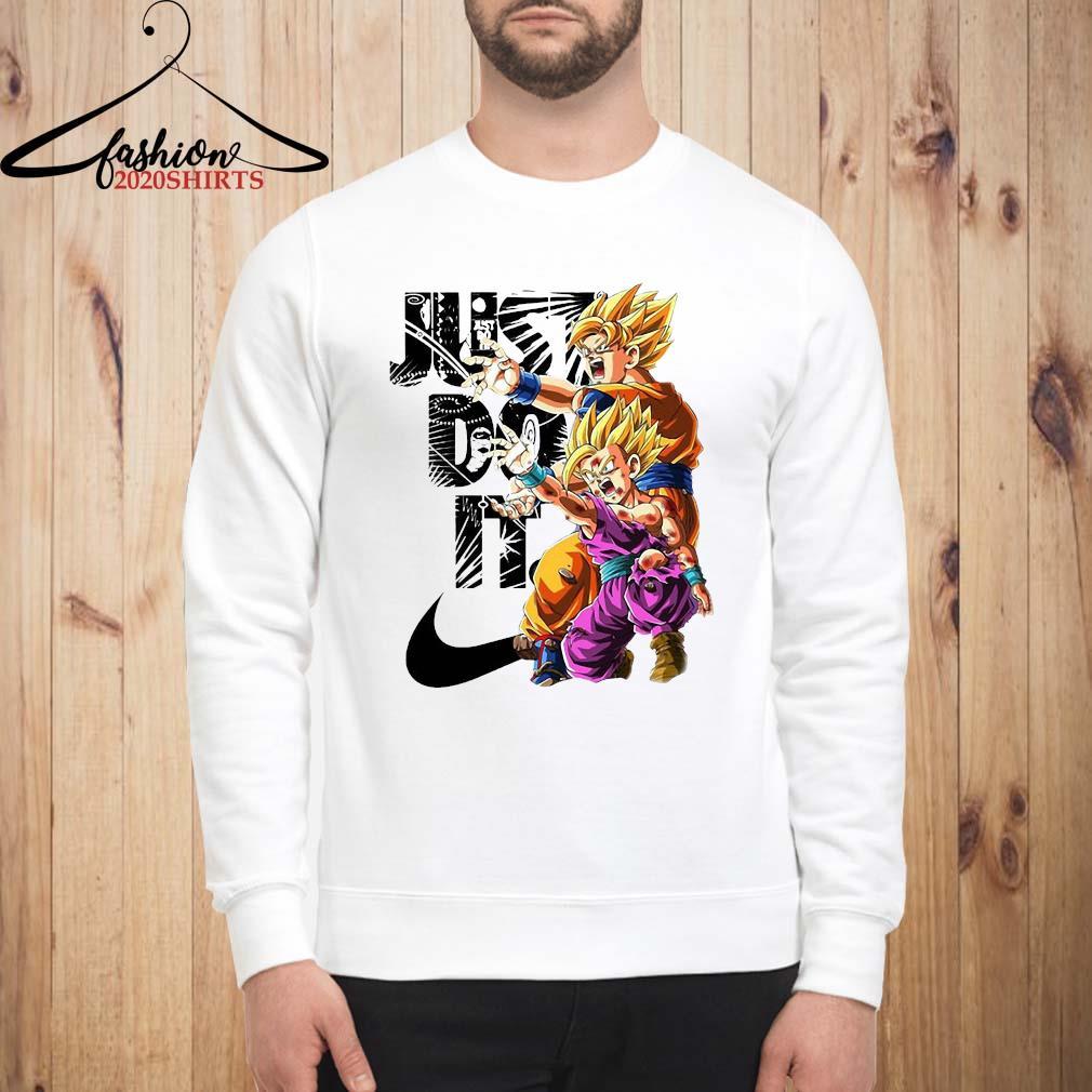 Goku And Gohan Kamehameha Nike Just Do It Shirt sweatshirt