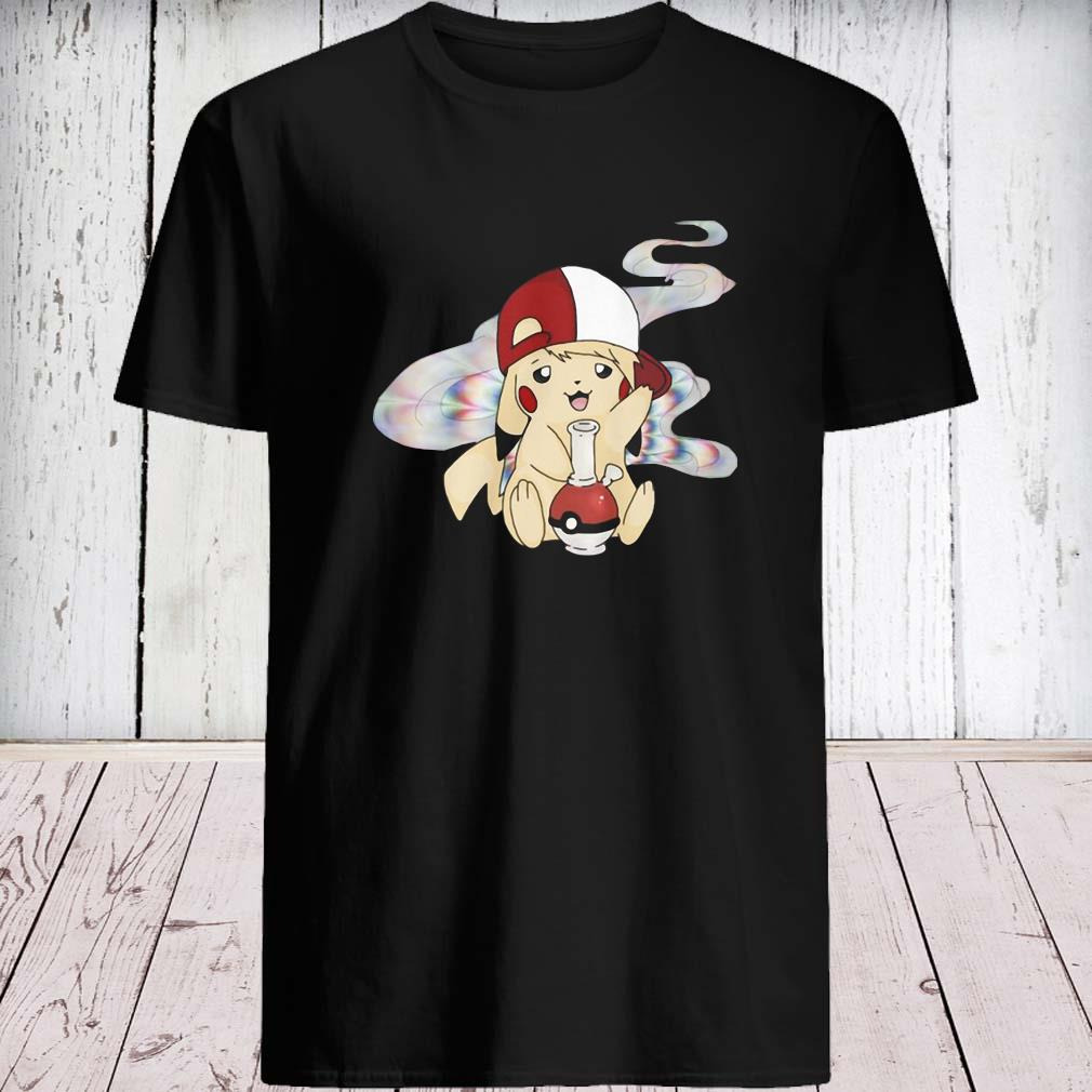 Pikachu Pokemon Smoking Weed Shirt unisex