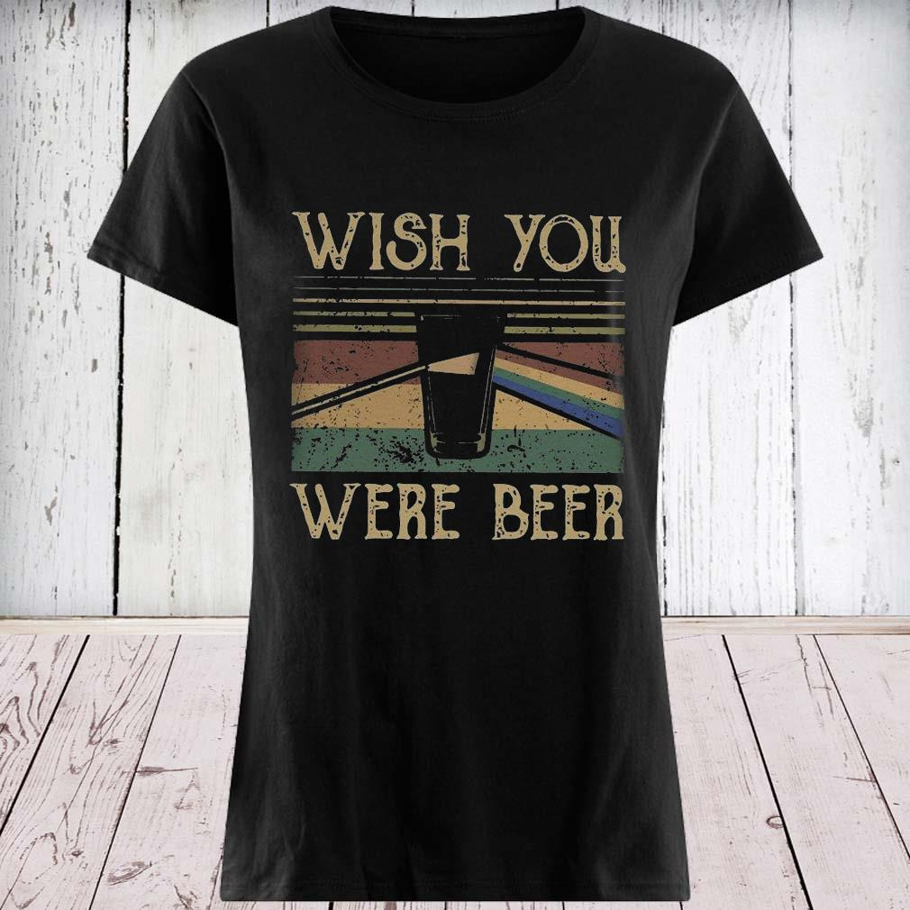Pink Floyd Wish You Were Beer Vintage Shirt ladies tee