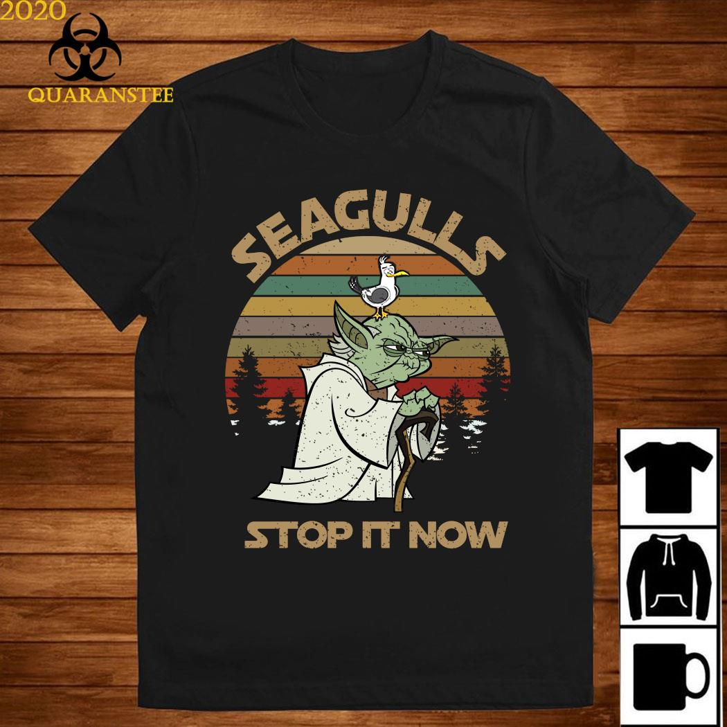 Yoda Seagulls Stop It Now Vintage Shirt