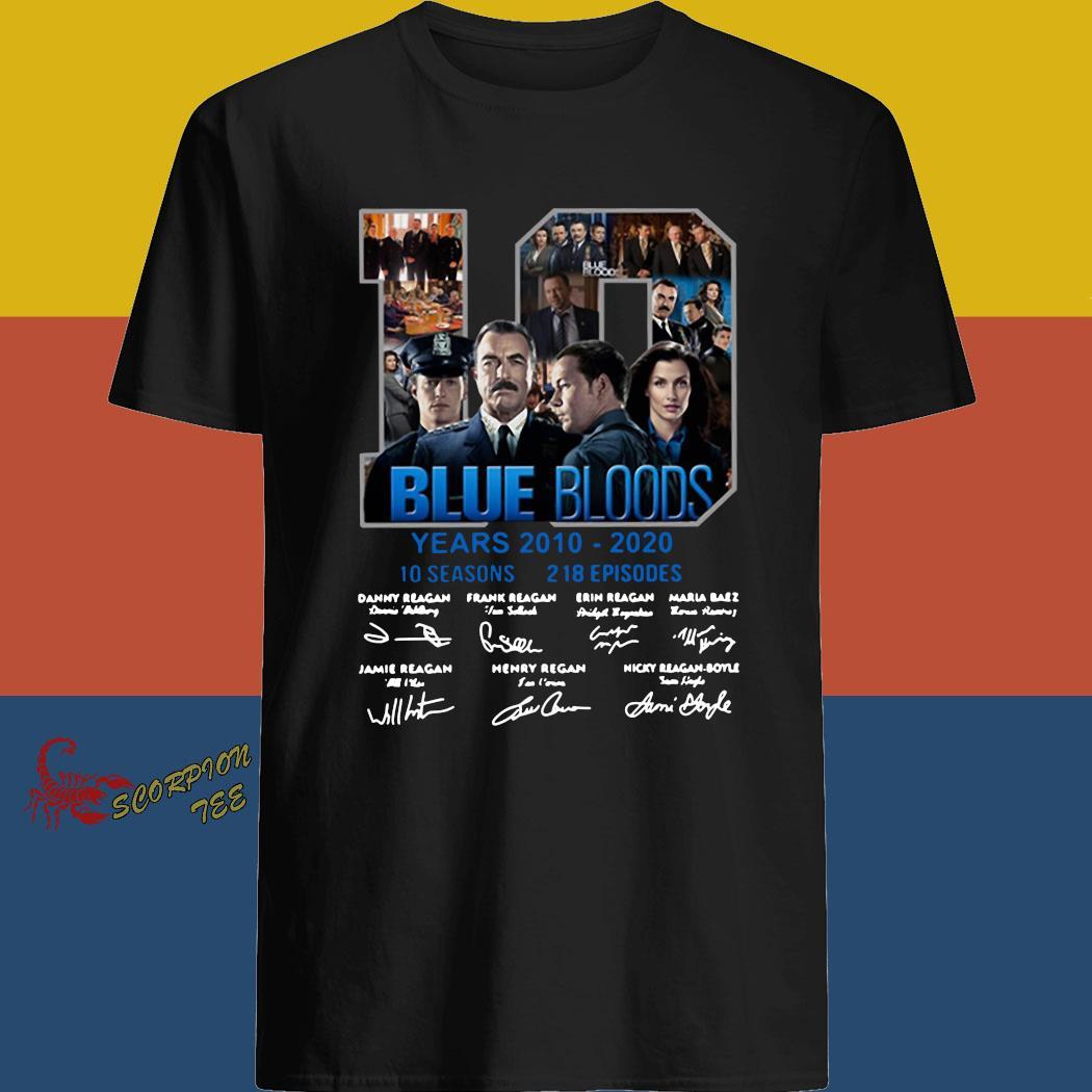 10 Blue Bloods Years 2010 2020 10 Seasons 218 Episodes Signatures Shirt