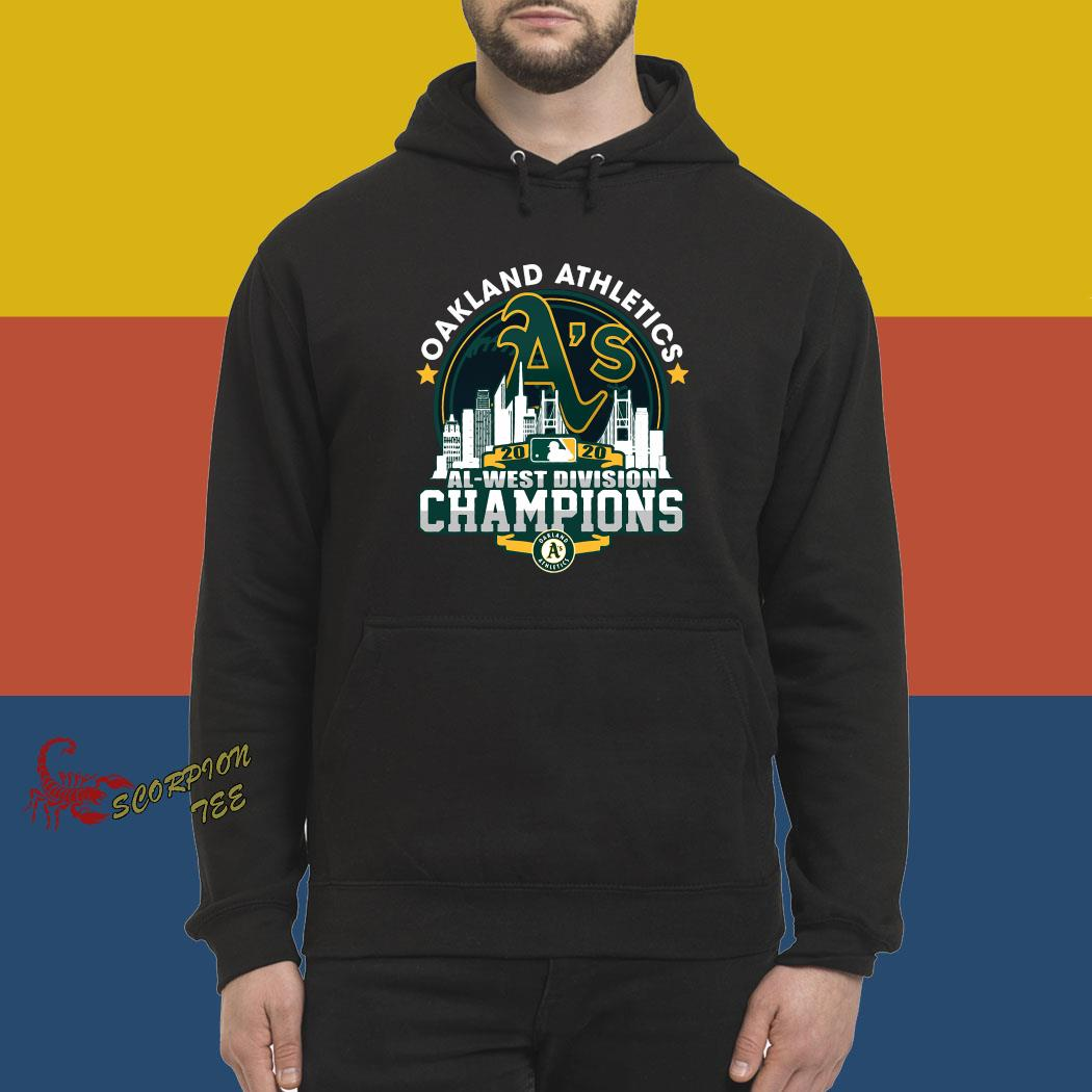 Oakland Athletics 2020 Al West Division Champion Shirt hoodie