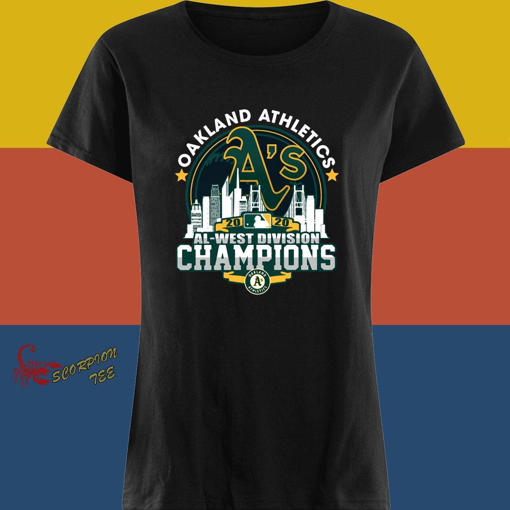 Oakland Athletics 2020 Al West Division Champion Shirt ladies tee