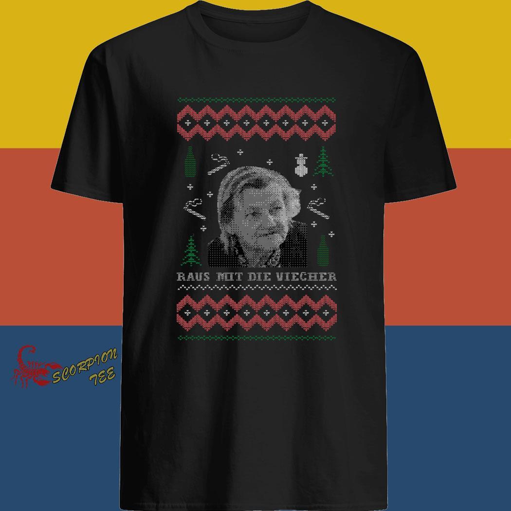 Raus Mit Die Viecher Ugly Christmas Shirt