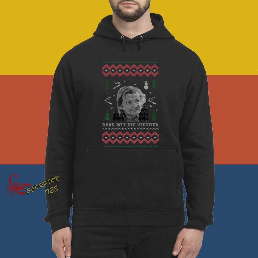 Raus Mit Die Viecher Ugly Christmas Shirt hoodie