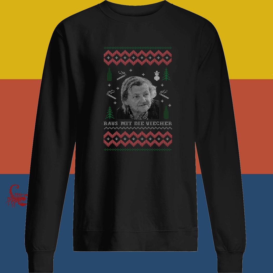 Raus Mit Die Viecher Ugly Christmas Shirt sweatshirt