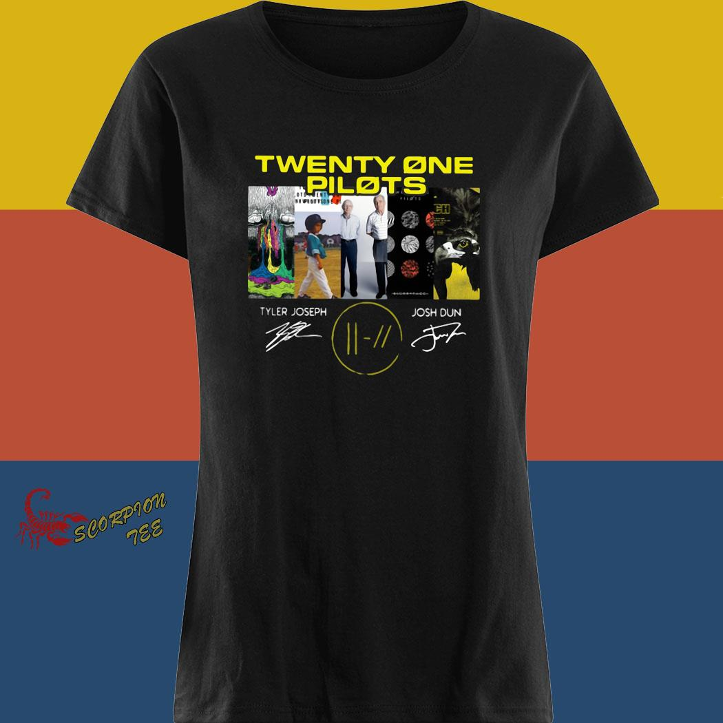 Twenty One Pilots Signatures Shirt ladies tee