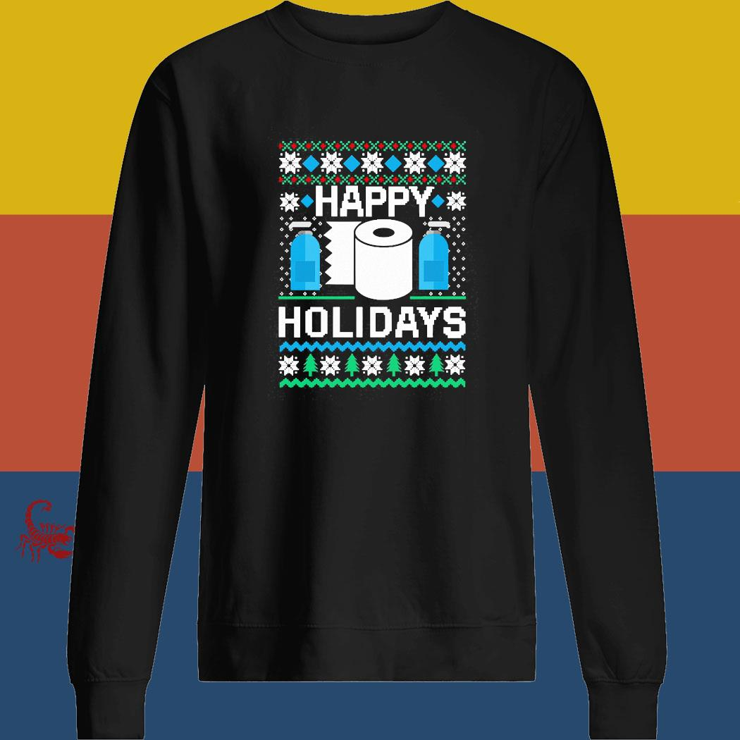 Happy Holidays Toilet Paper Hand Sanitizer Ugly Christmas