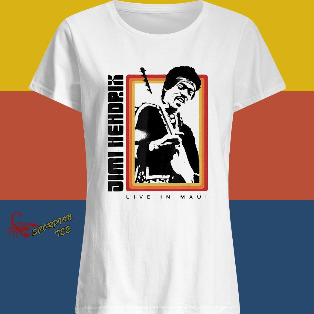 Jimi Hendrix Live In Maui Shirt ladies shirt