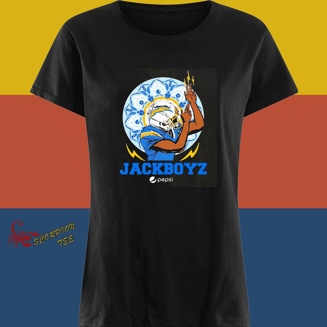Los Angeles Chargers Jackboyz Pepsi Shirt ladies tee