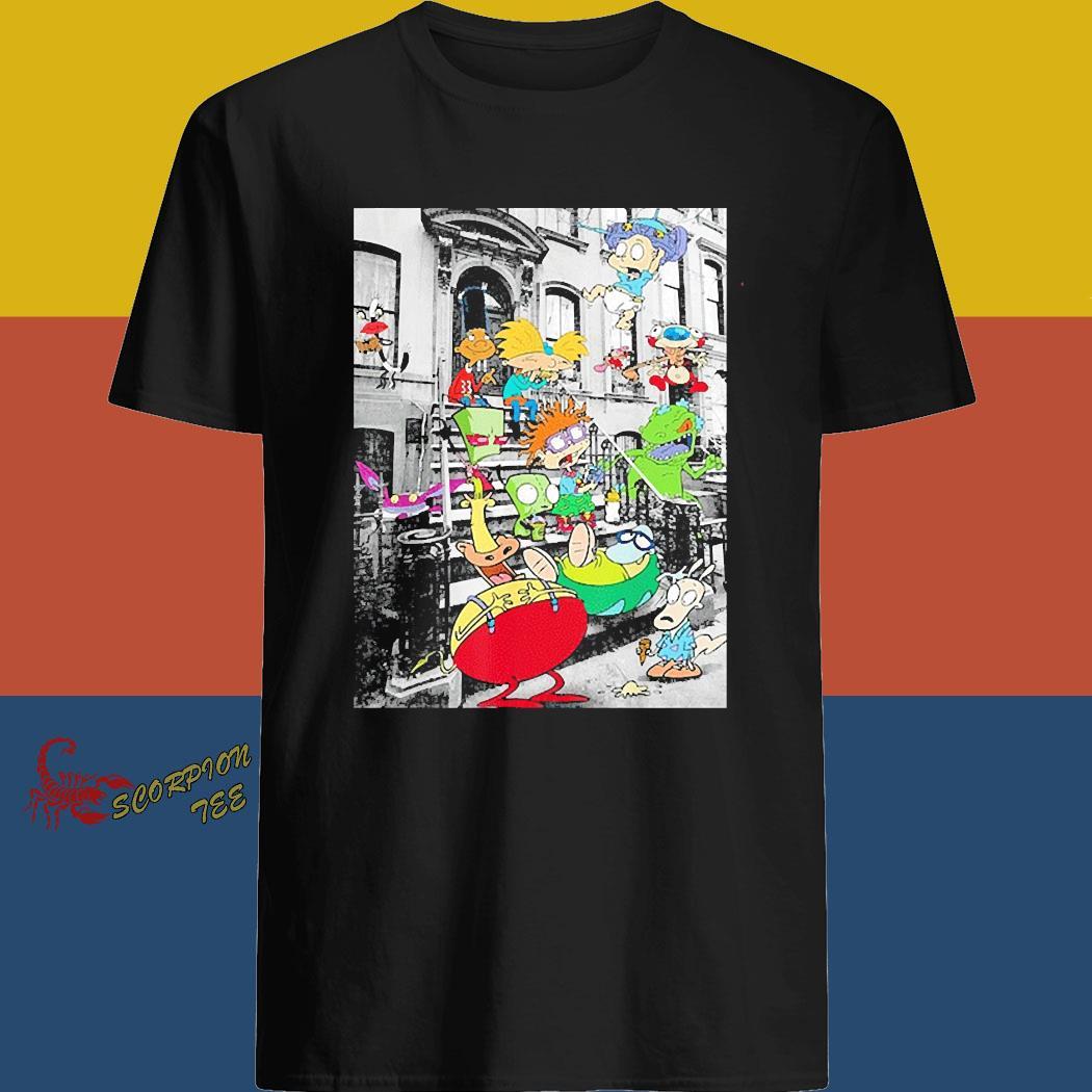 Nickelodeon Classic Nicktoons Hanging On Stoop 2020 Shirt