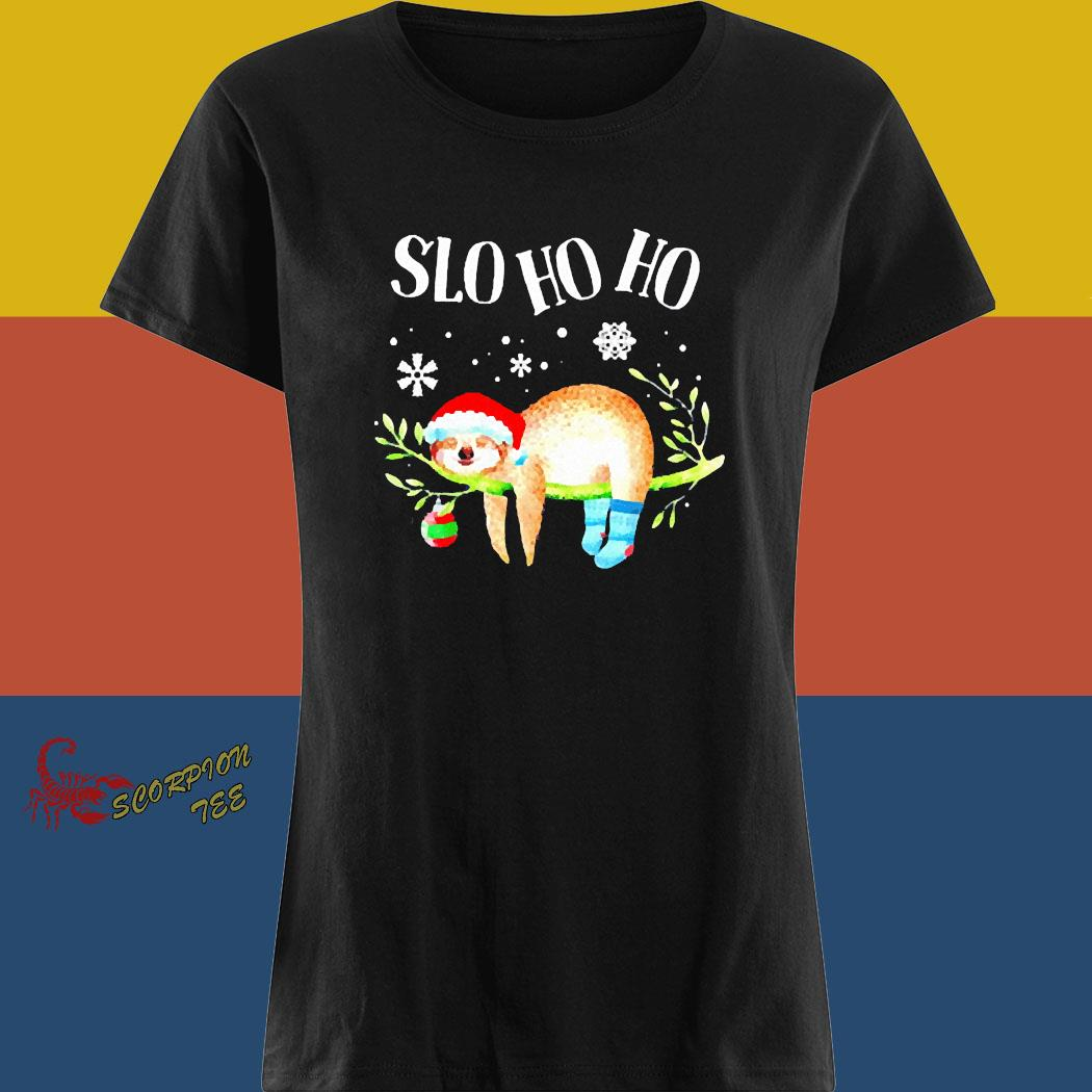 Sloth Slo Ho Ho Christmas 2020 Shirt ladies tee