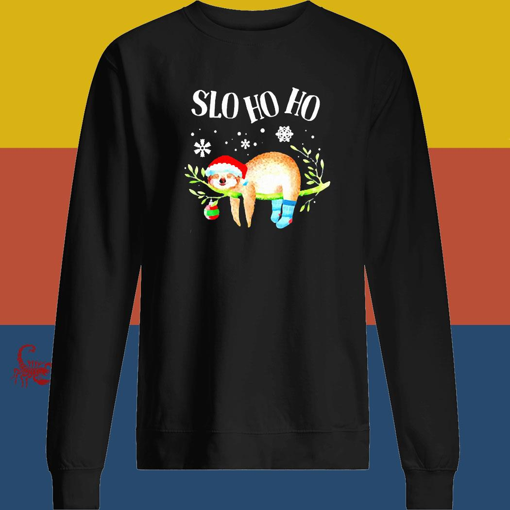 Sloth Slo Ho Ho Christmas 2020 Shirt sweatshirt