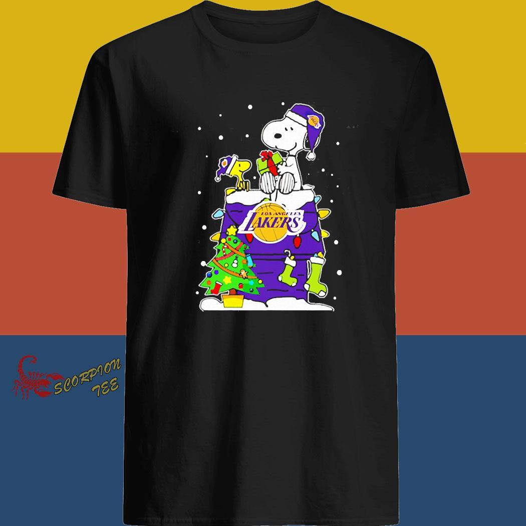 Snoopy Lakers Christmas Shirt