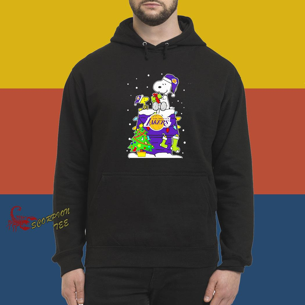 Snoopy Lakers Christmas Shirt hoodie