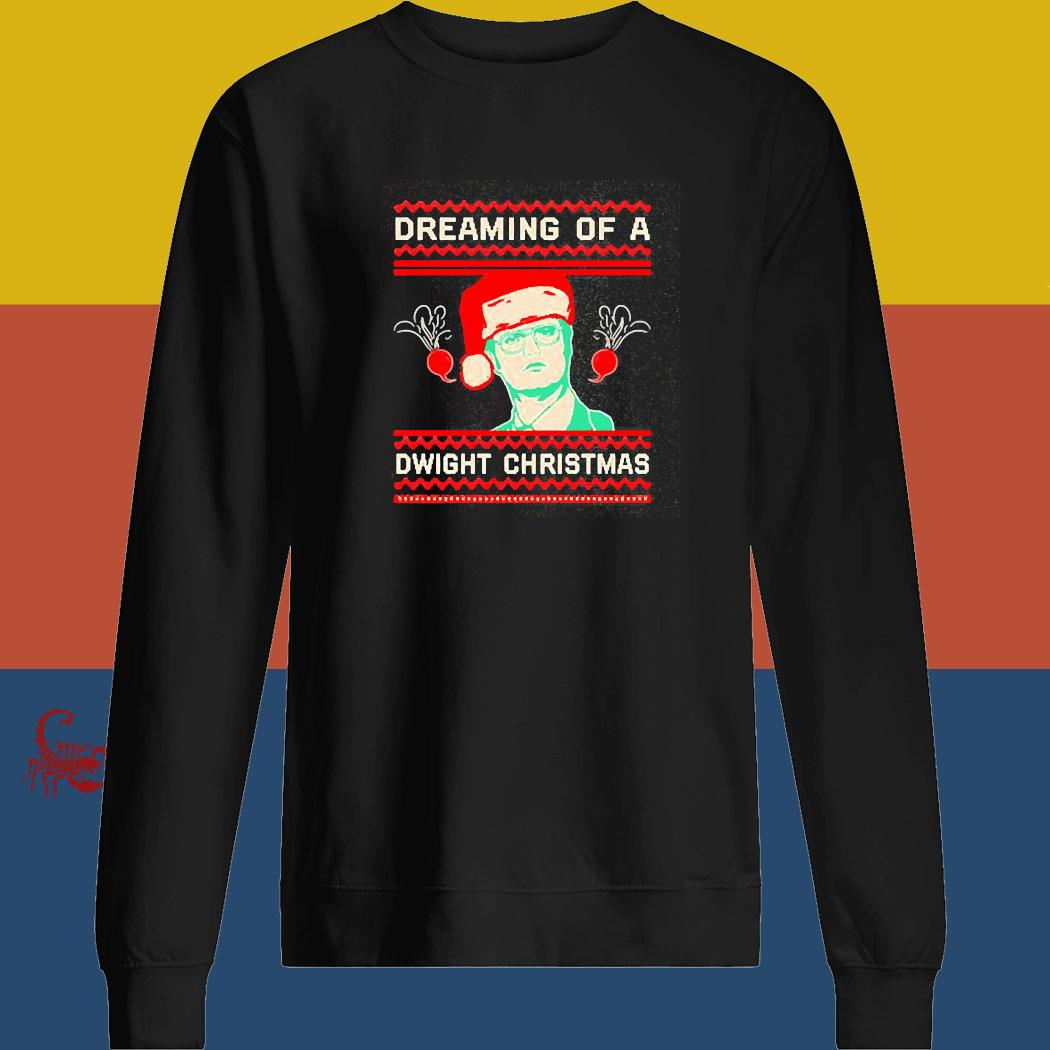 The Office Tv Series Dreaming Of A Dwight Ugly Christmas Shirt sweatshirt