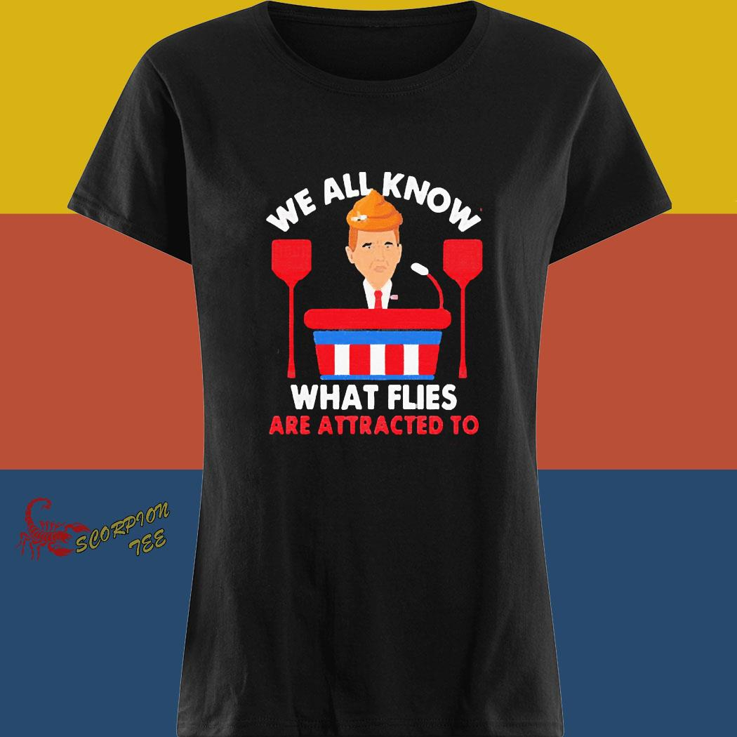We All Know What Flies Are Attracted To Funny Pence 2020 Vp Debate Shirt ladies tee