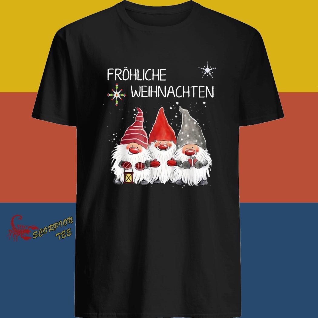 Gnomes Fröhliche Weihnachten Christmas Shirt