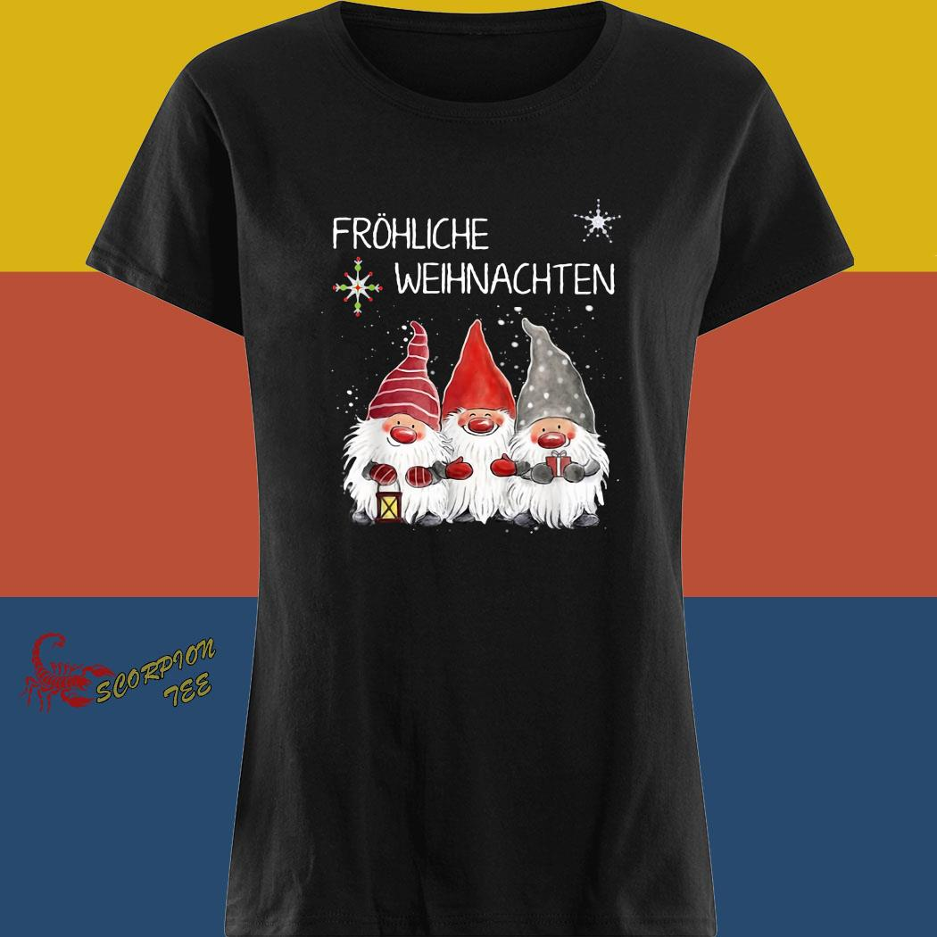 Gnomes Fröhliche Weihnachten Christmas Shirt ladies tee