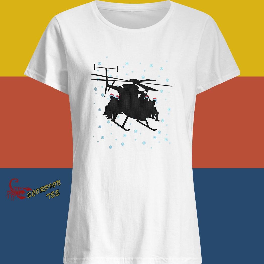Night Stalkers Helicopter Christmas Sweater ladies shirt