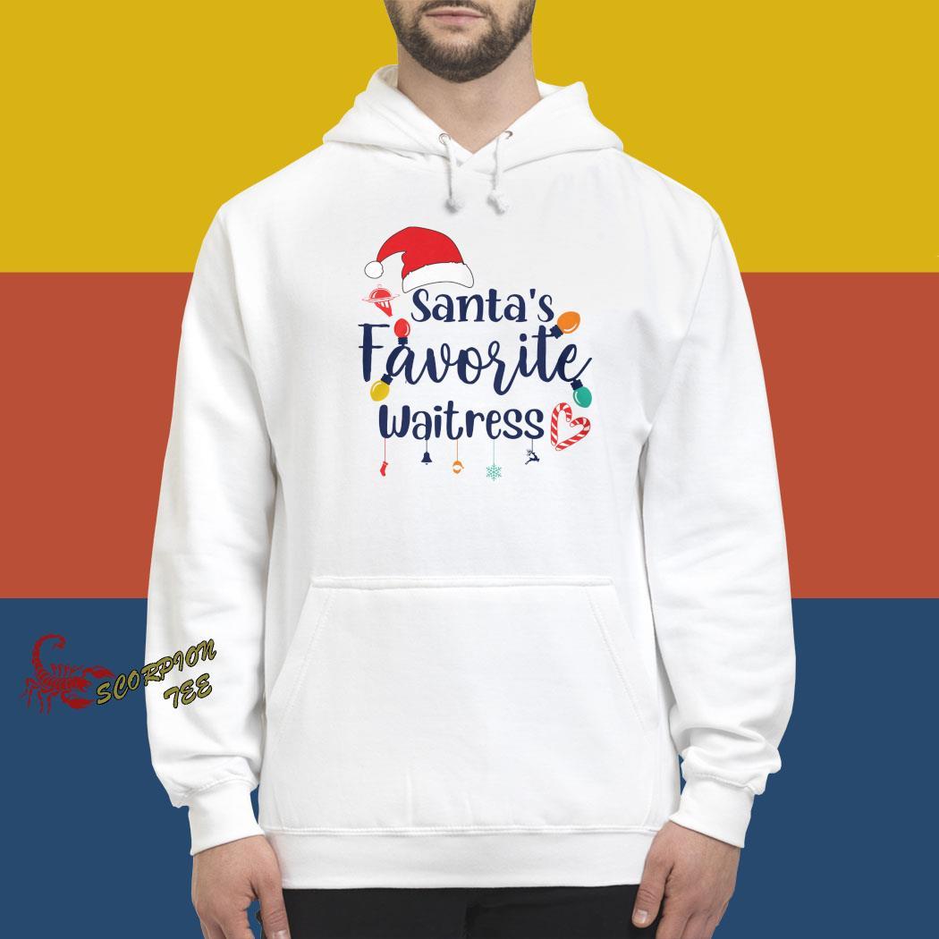 Santa's Favorite Waitress Christmas Shirt hoodie