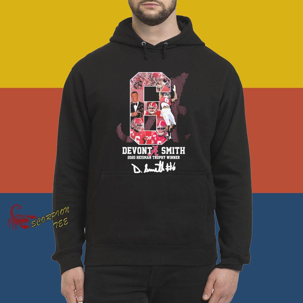 Alabama Crimson Tide Devonta Smith 2020 Heisman Trophy Winner Signature Shirt hoodie