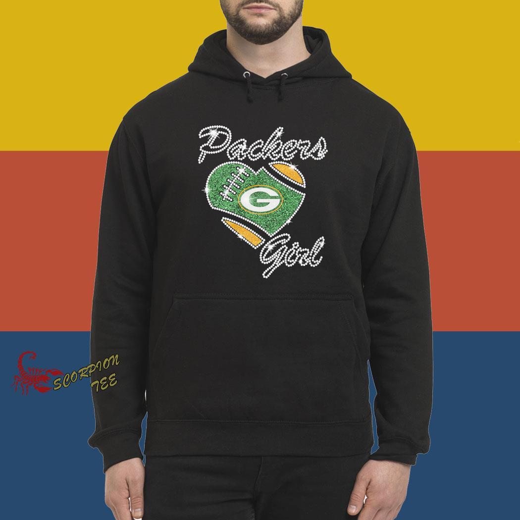 Diamond Heart Green Bay Packers Girl Shirt hoodie