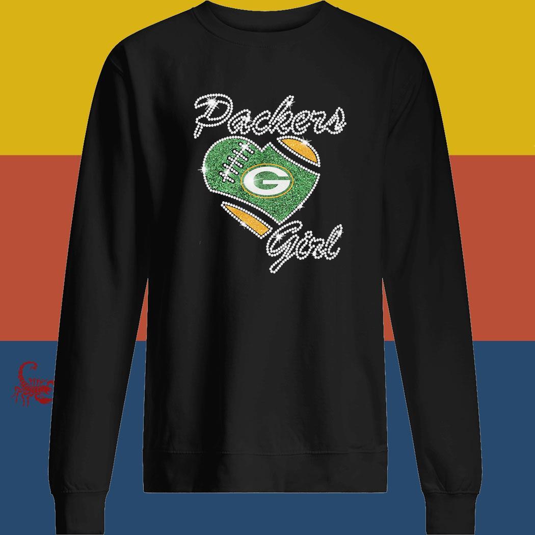 Diamond Heart Green Bay Packers Girl Shirt sweatshirt